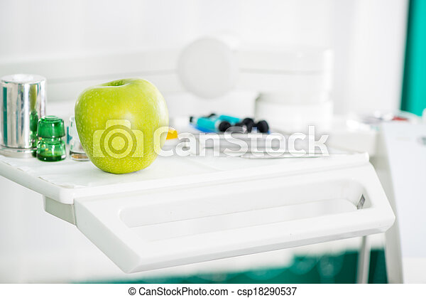 Apple and Dental equipment - csp18290537