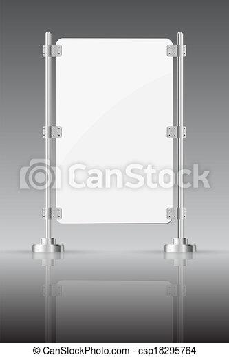 clip art vecteur de verre cran m tal etag res sombre fond reflet csp18295764 recherchez. Black Bedroom Furniture Sets. Home Design Ideas