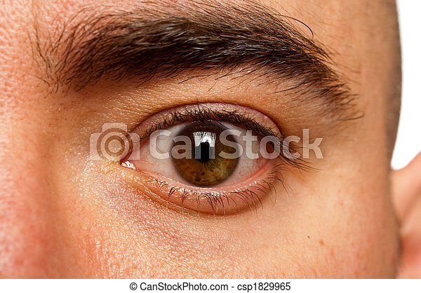 Close up of a male eyeball - csp1829965