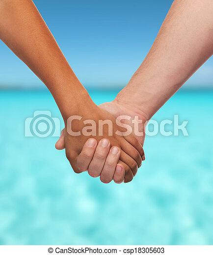 男の女性, 手を持つ - csp18305603