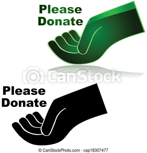 Please Donate - Royalty Free EPS Clip Art - csp18307477