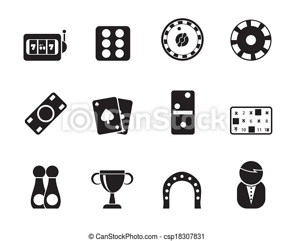 gambling and casino Icons - csp18307831