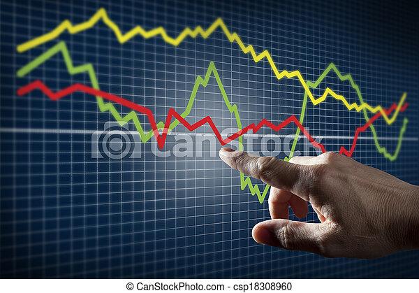 触, 圖表, 市場, 股票 - csp18308960