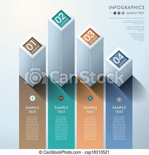 abstract 3d bar chart infographics - csp18310521
