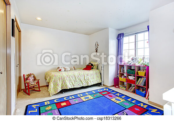 Bright and simple young adult bedroom  - csp18313266