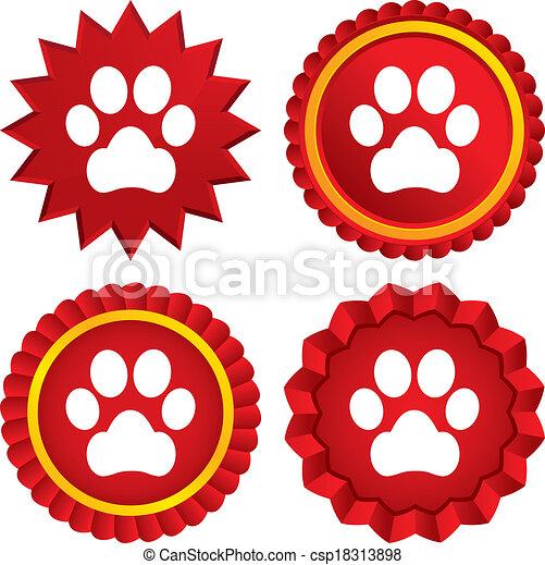 Vettori eps di zampa cane segno animali domestici for Piani domestici su ordinazione arizona