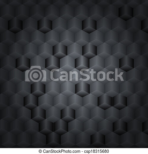 Black vector technology background with 3D effect for your design - csp18315680