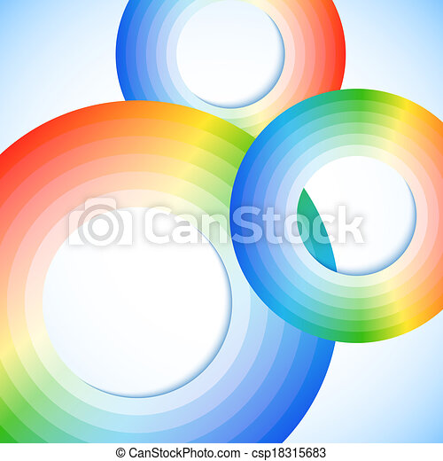 Abstract rainbow circles with space for your business message - csp18315683