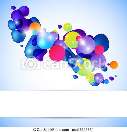 Abstract 3D illustration with space for your design - csp18315684