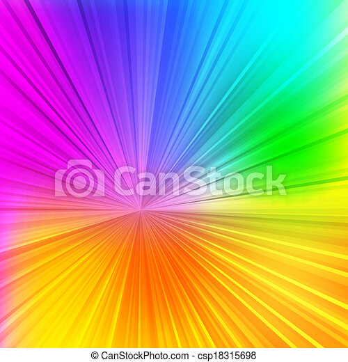 Abstract colorful beams background for your design - csp18315698