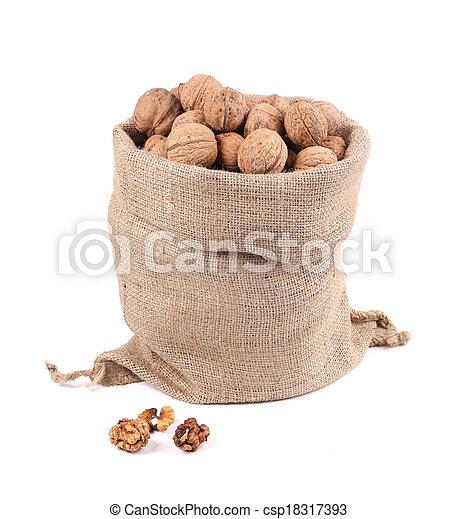 stock de fotos bolsa arpillera nueces