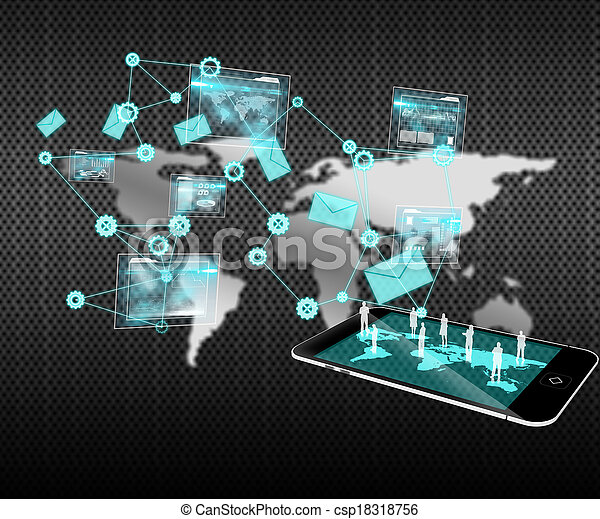 imagen compuesta, análisis, plano de fondo, interfaz, datos - csp18318756