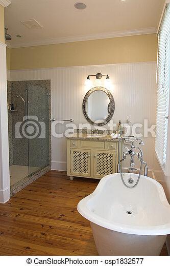 bathroom with clawfoot tub - csp1832577