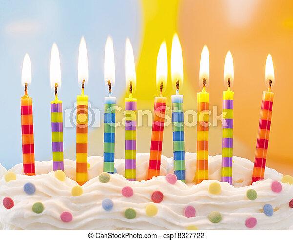 蜡燭, 生日 - csp18327722