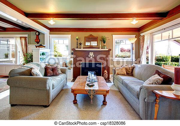 Elegant antique style living room - csp18328086