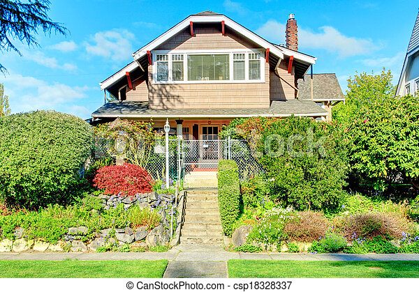 Big house with beautiful curb appeal