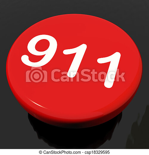 Nine One Button Shows Call Emergency Help Rescue 911 - csp18329595