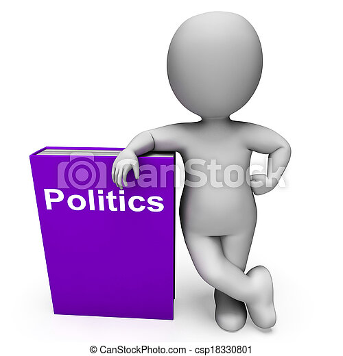 Politics Book And Character Showing Books About Government Democracy - csp18330801