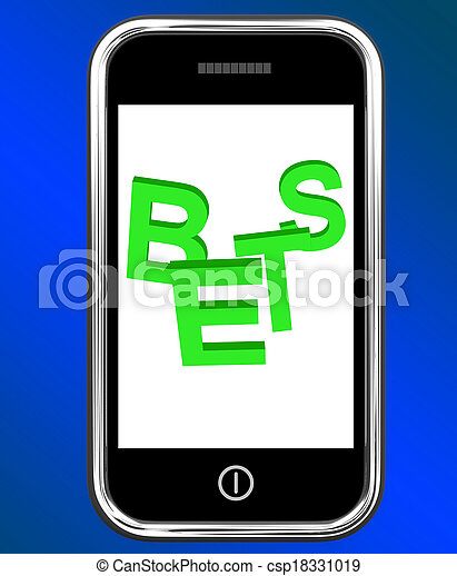 Bets On Phone Showing Online Or Internet Gambling - csp18331019