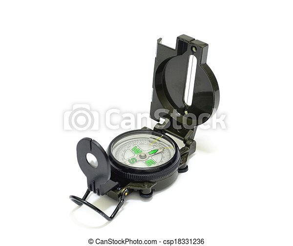 Military Compass over White - csp18331236