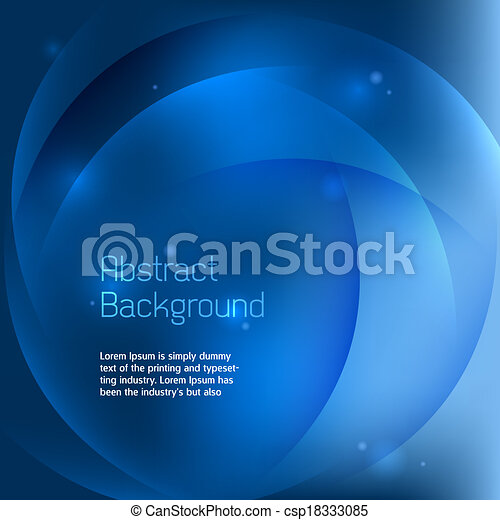 Abstract Blue Background Vector - csp18333085