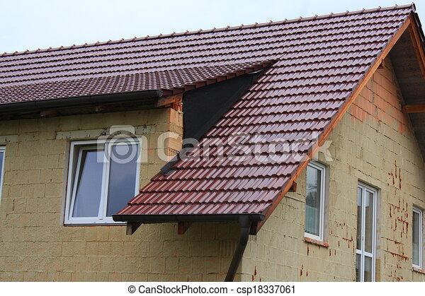 illustration de pignon toit couvert brun c ramique couverture csp18337061. Black Bedroom Furniture Sets. Home Design Ideas