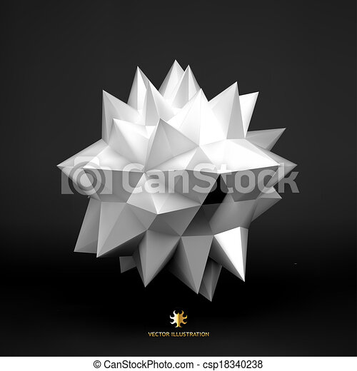 3D vector illustration. Abstract background.  - csp18340238