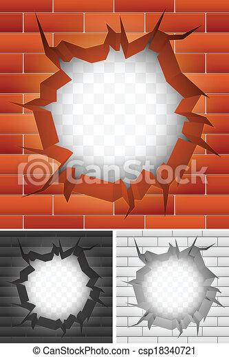 illustration vecteur de brique fissure mur fissure. Black Bedroom Furniture Sets. Home Design Ideas