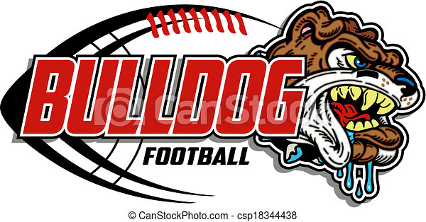 vectors of bulldog football design csp18344438   search clip art illustration drawings and