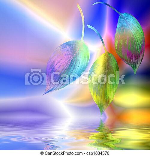 ファンタジー, 抽象的, 葉,  hosta - csp1834570