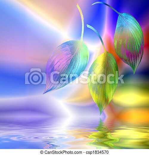 Hosta Leaf Fantasy Abstract - csp1834570