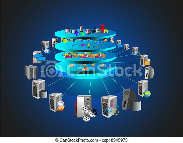 Vectors Illustration of Service Oriented Architecture ...