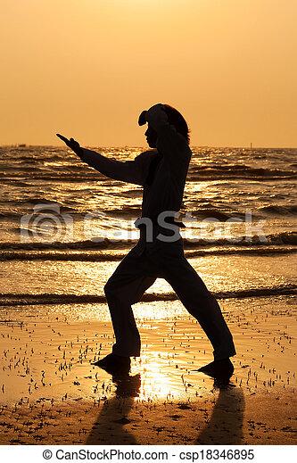 Martial arts training - csp18346895