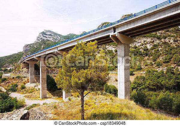 Road bridges in the mountains.  Catalonia - csp18349048
