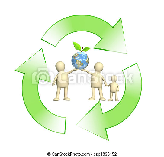 Conceptual image - protection of an environment - csp1835152
