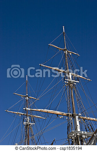 Tall Ship Masts - csp1835194