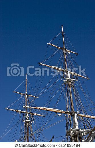 Tall Ship Masts - csp1835194