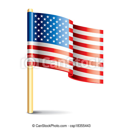 United States of America glossy flag - csp18355443