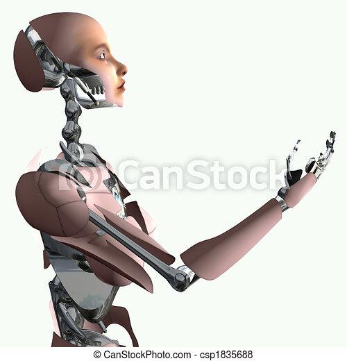 Cyborg making offer - csp1835688