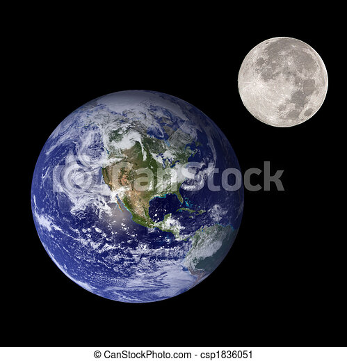 Clipart of earth and moon - Earth and moon like mother and ...