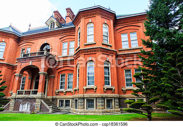 Former Hokkaido Government Office in Sapporo, Japan.  - csp18361596