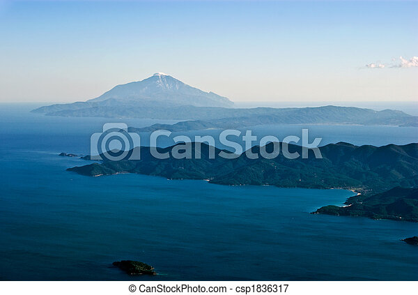 Mount Athos aerial - csp1836317