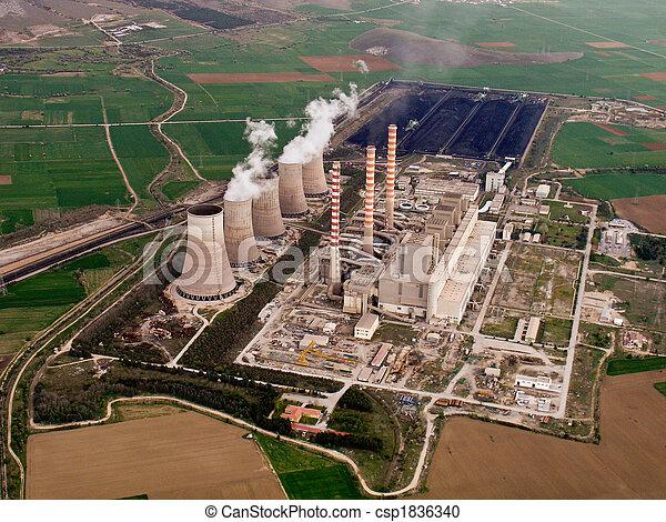Power plant aerial - csp1836340