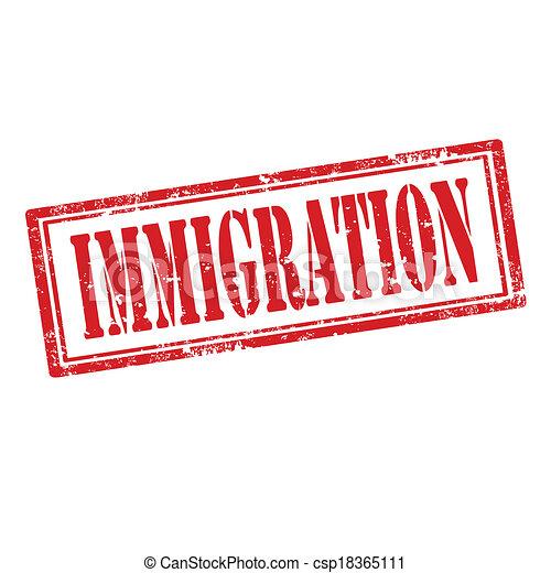 Vector Clip Art of Immigration-stamp - Grunge rubber stamp ...