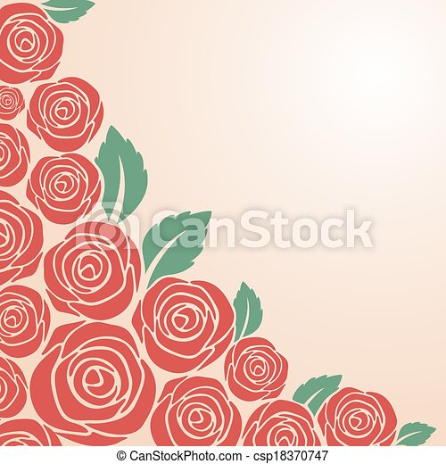 Rose Bushes Drawing Red Rose Bush on Pink
