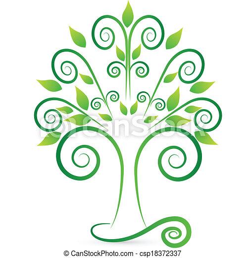 vecteurs de stylis swirly arbre logo vecteur de stylis et csp18372337 recherchez. Black Bedroom Furniture Sets. Home Design Ideas