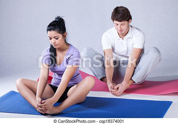 Stretching rehabilitation exercises - csp18374001