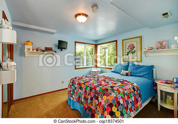 Refreshing young adult room - csp18374501