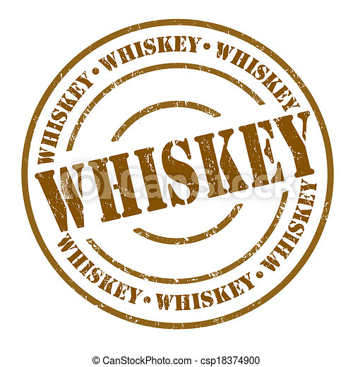Vector - Whiskey stamp - stock illustration  royalty free    Whiskey Barrel Drawing