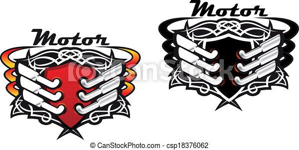 Motor sports icons - csp18376062